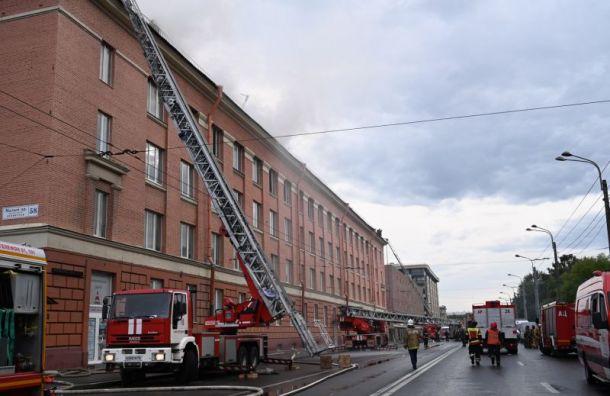 Пожар в бизнес-центре на Малом проспекте локализовали
