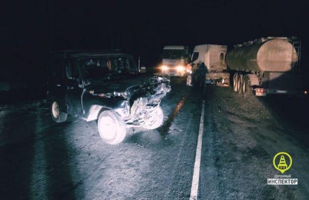 На «Нарве» восстановили движение после ДТП с «УАЗом»