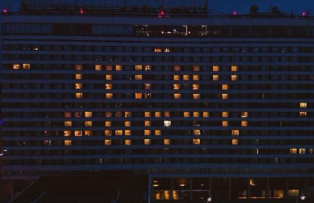 Петербурсгкие поклонники Джей Ло устроили световое шоу в честь певицы