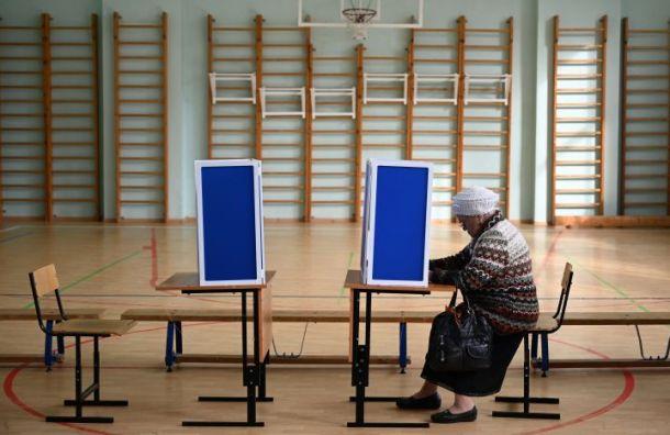 Явка на выборах губернатора Санкт-Петербурга утром составила 1,86%
