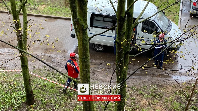 На улице Подвойского вспыхнула проводка