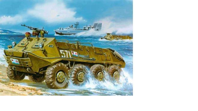 В Керченском проливе утонул БРДМ-2, угрозы разлива топлива нет
