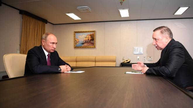 Путин встретился с губернатором Петербурга Бегловым