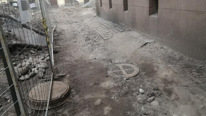 КГИОП одобрил демонтаж старинной брусчатки на Римского-Корсакова