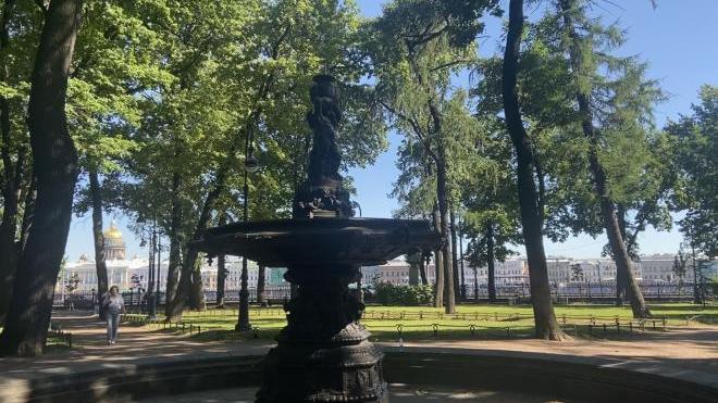 Беглов заявил, что фонтаны в Румянцевском саду восстановят в ближайшее время