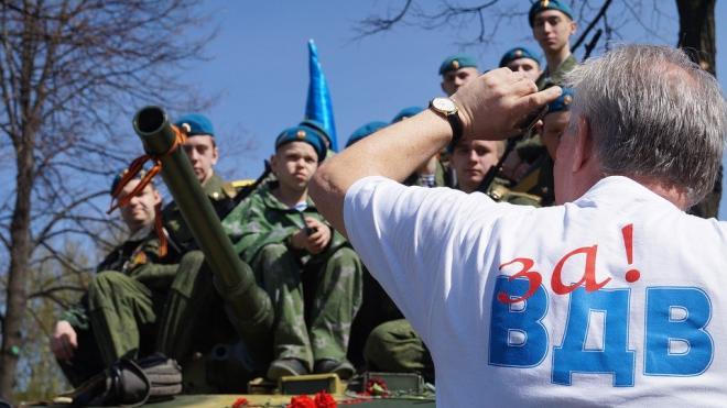В центре Петербурга день ВДВ отметят без фонтанов