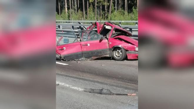 В ДТП на КАД погиб водитель