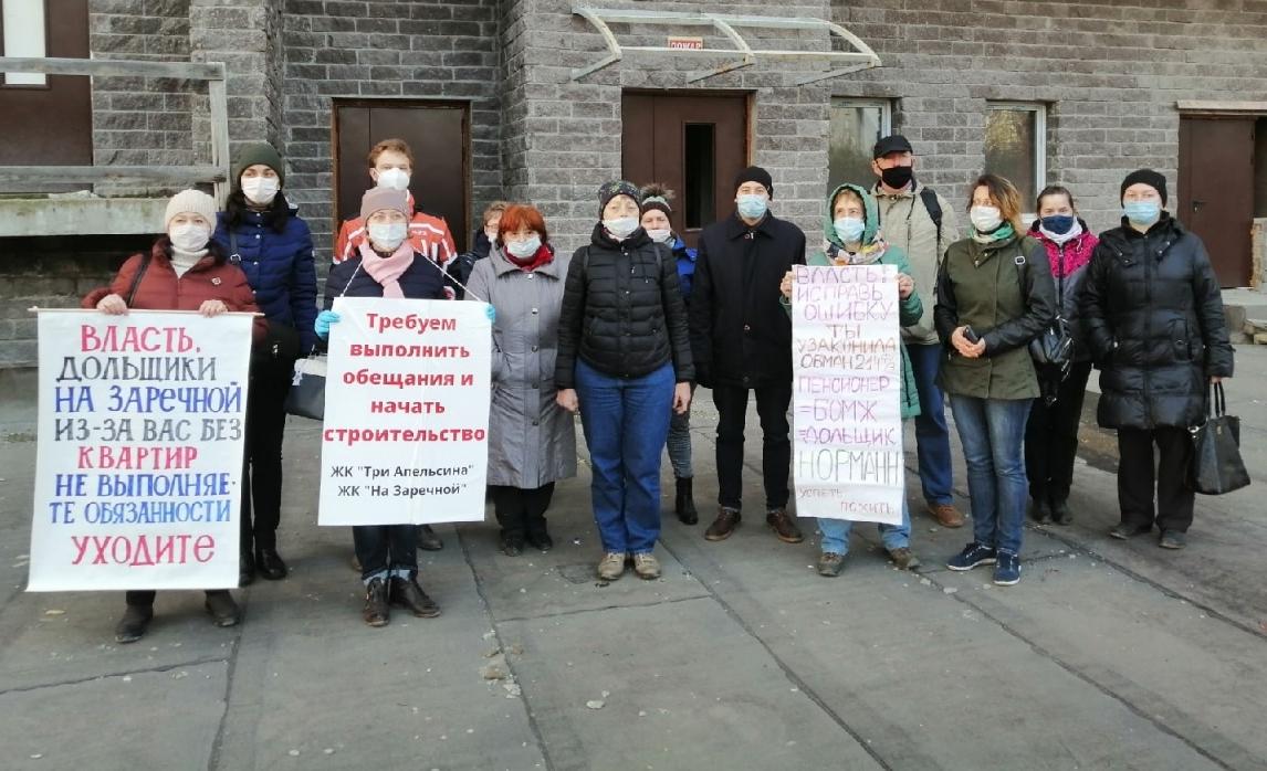 Отчаявшиеся дольщики ГК «Норман» объявили бессрочную голодовку