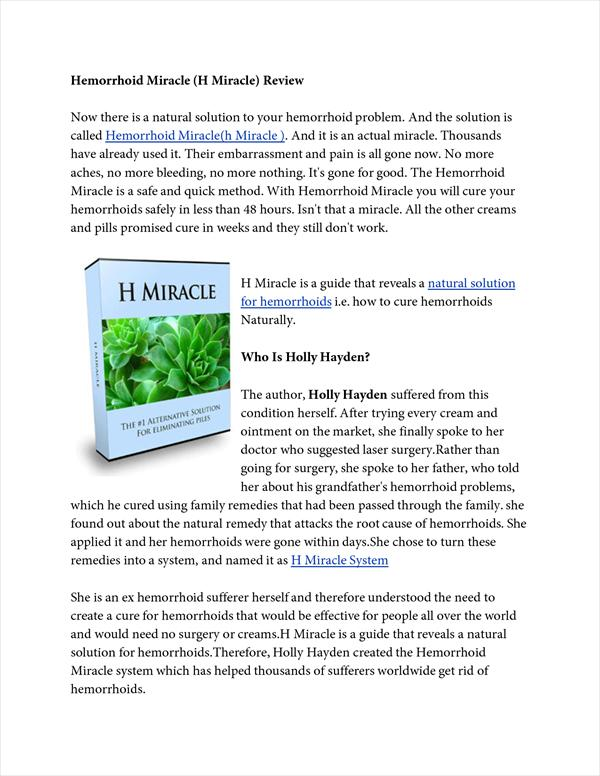 Hemorrhoid Miracle(H Miracle) Review 2133428560