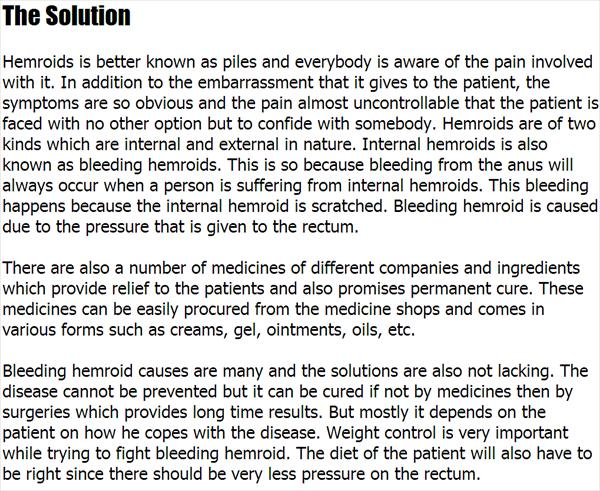 Bleeding Internal Hemroids and Hemorrhoid Banding Procedure Bleeding-Hemroids