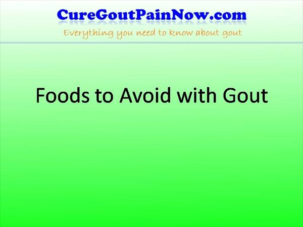 Gout: Gout Foods to Avoid -- is Diet Plan Important  Foods-To-Avoid-With-Gout3