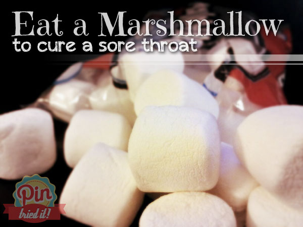 Sinusitis Fixes You can Try At Home Marshmallows-to-Cure-a-Sore-Throat