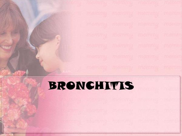Bronchitis Symptoms, All Natural Steps to Cure Bronchitis Bronchitis