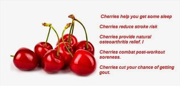 Uric Acid Crystals and Tart Cherry Powder to Fight Gout Cherry-benefits638
