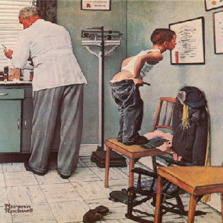 Gout Natural: Exercise, Diet, Rest to Fight Gout Norman-rockwell-before-the-shot00