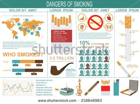 Dangers of Smoking Stock-vector-dangers-of-smoking-infographics-elements-vector-illustration
