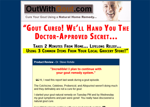 Gout Prevention, Joe Barton Out With Gout, Cure for Gout The-gout-remedy-report3