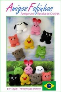 Baixar Amigos Fofinhos Amigurumi Receita de Crochet (Receitas Fáceis de Bonecas em Crochet Livro 8) pdf, epub, eBook