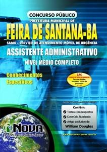 Baixar Apostila SAMU Feira de Santana – Assistente Administrativo pdf, epub, eBook