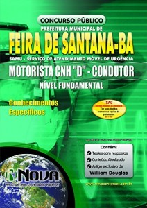 Baixar Apostila SAMU Feira de Santana – Motorista pdf, epub, eBook