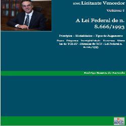 Baixar Série Licitante Vencedor – Volume I – A Lei Federal 8.666/1993 pdf, epub, eBook