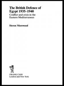 Baixar British defence of egypt, 1935-40, the pdf, epub, eBook