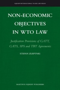 Baixar Non-economic objectives in wto law pdf, epub, eBook