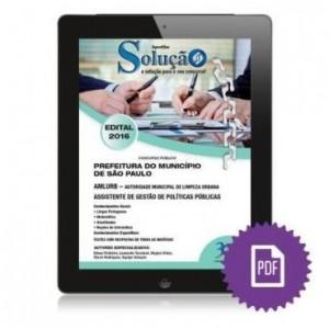 Baixar Apostila digital AMLURB – Prefeitura de São Paulo – Assistente de Gestão de Políticas Públicas pdf, epub, eBook