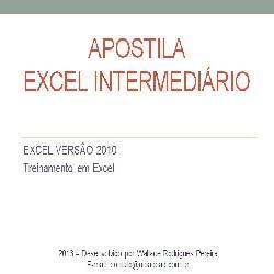Baixar APOSTILA DE EXCEL INTERMEDIÁRIO pdf, epub, ebook