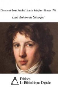 Baixar Discours de louis antoine leon de saint-just – pdf, epub, eBook