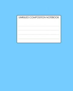 Baixar Unruled composition notebook pdf, epub, eBook