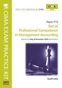 Baixar Test of Professional Competence In Management Accounting: Paper P10. Cima Exam Practice Kit 2005 pdf, epub, eBook