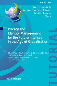 Baixar Privacy and identity management for the future pdf, epub, eBook