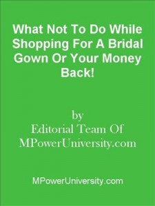 Baixar What not to do while shopping for a bridal gown pdf, epub, eBook