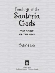 Baixar Teachings of the Santería Gods: The Spirit of the Odu pdf, epub, eBook