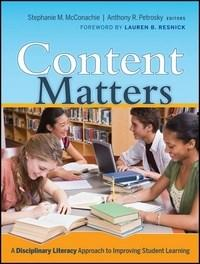 Baixar Content Matters: A Disciplinary Literacy Approach To Improving Student Learning pdf, epub, ebook