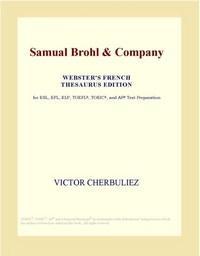 Baixar Samual Brohl & Company (webster's French Thesaurus Edition) pdf, epub, eBook