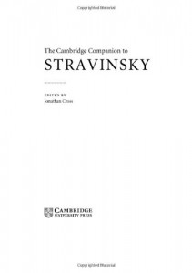 Baixar Cambridge companion to stravinsky, the pdf, epub, eBook