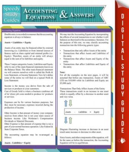 Baixar Accounting equations and answers (speedy study pdf, epub, ebook
