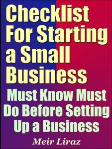 Baixar Checklist for starting a small business: must pdf, epub, ebook