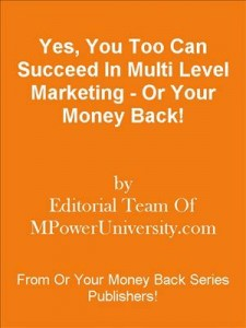 Baixar Yes, you too can succeed in multi level pdf, epub, ebook