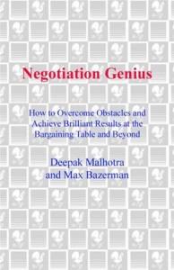 Baixar Negotiation genius pdf, epub, ebook