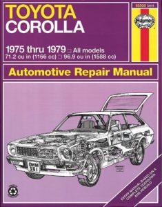 Baixar Toyota corolla 1975 thru 1979 all models 712 cu in pdf, epub, ebook