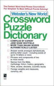 Baixar Webster's new world crossword puzzle dictionary pdf, epub, eBook