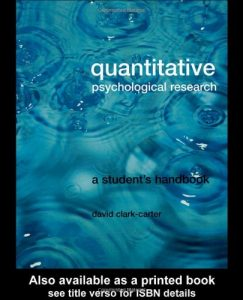 Baixar Quantitative psychological research pdf, epub, ebook