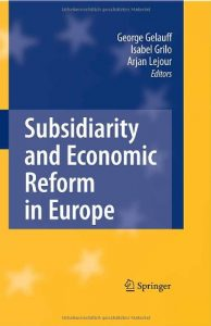 Baixar Subsidiarity and economic reform in europe pdf, epub, eBook
