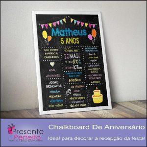 Baixar ChalkBoard de Aniversário – Editável no PowerPoint pdf, epub, ebook