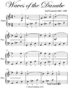 Baixar Waves of the danube easy piano sheet music pdf, epub, ebook