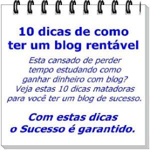 Baixar 10 Dicas de como ter um blog rentável pdf, epub, ebook