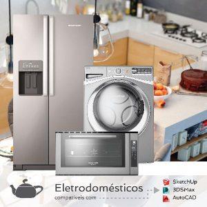 Baixar Coleção 3d para 3dsMax/Vray e SketchUp – 68 Eletrodomésticos pdf, epub, ebook